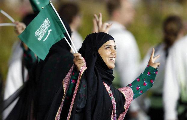 Mujeres saudíes asisten a un partido de fútbol por vez primera en la historia del reino
