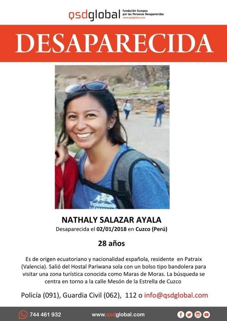 El Ayuntamiento de Valencia asegura que está a disposición de la familia de la joven desaparecida en Perú si lo necesita