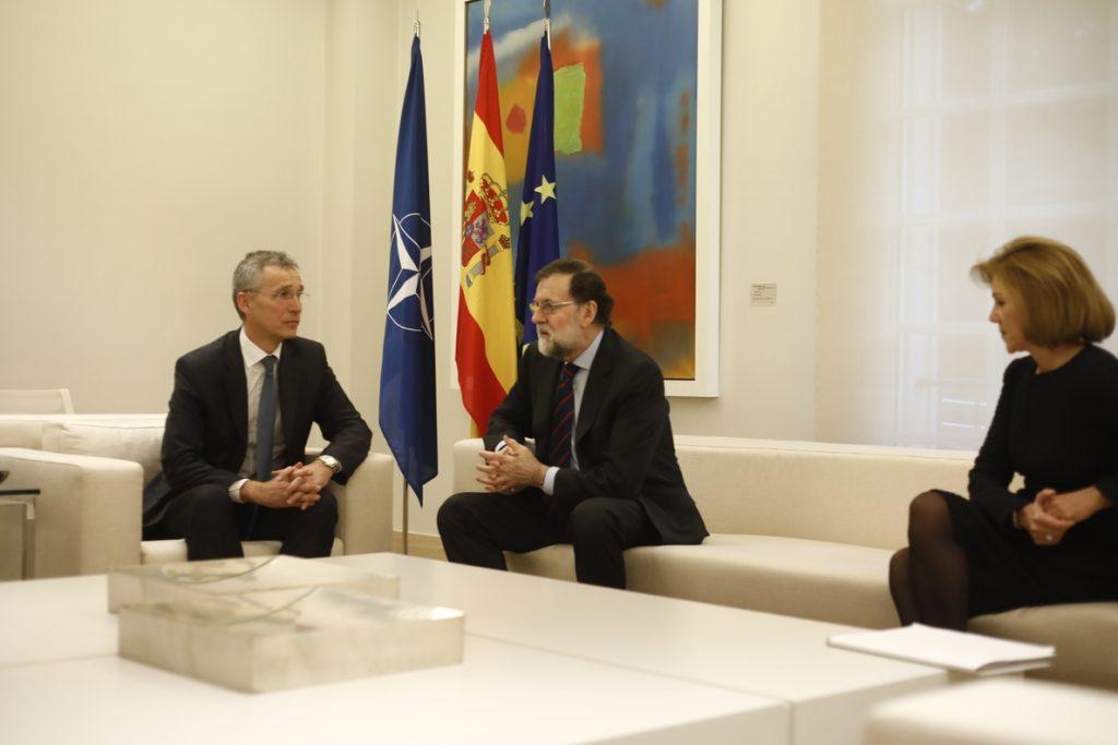 El secretario general de la OTAN pide a España un aumento progresivo de su presupuesto en Defensa