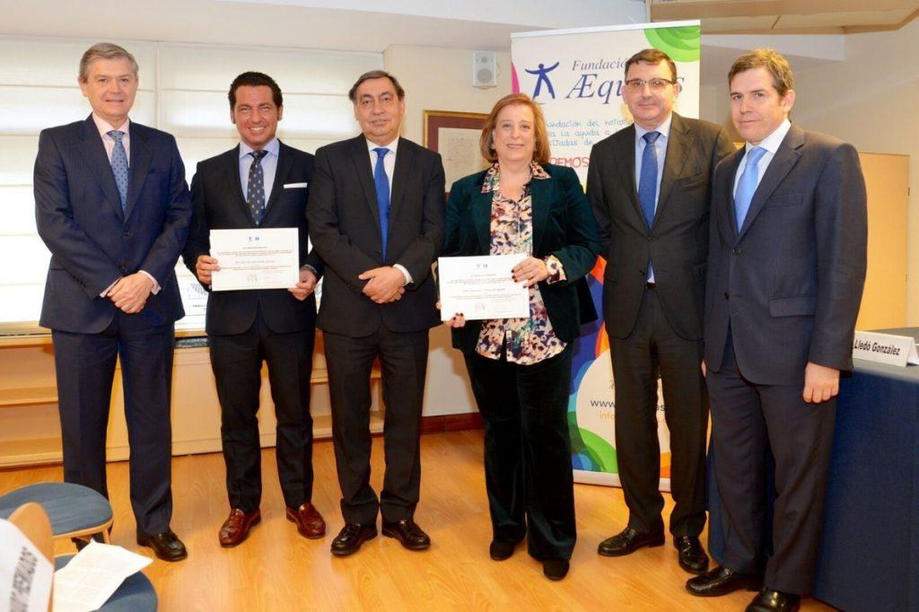 El fiscal general del Estado entrega el Premio Aequitas 2018 a la jurista Inmaculada Llorente