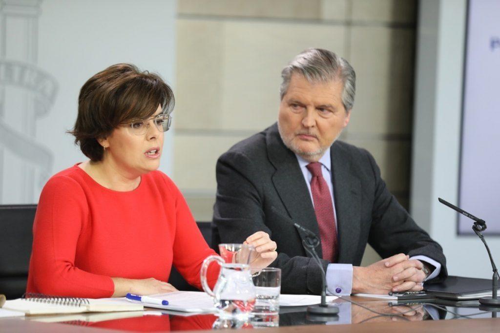 El Gobierno celebra que el TC «prohíba un pleno fraudulento» para investir a Puigdemont por vía telemática o delegación