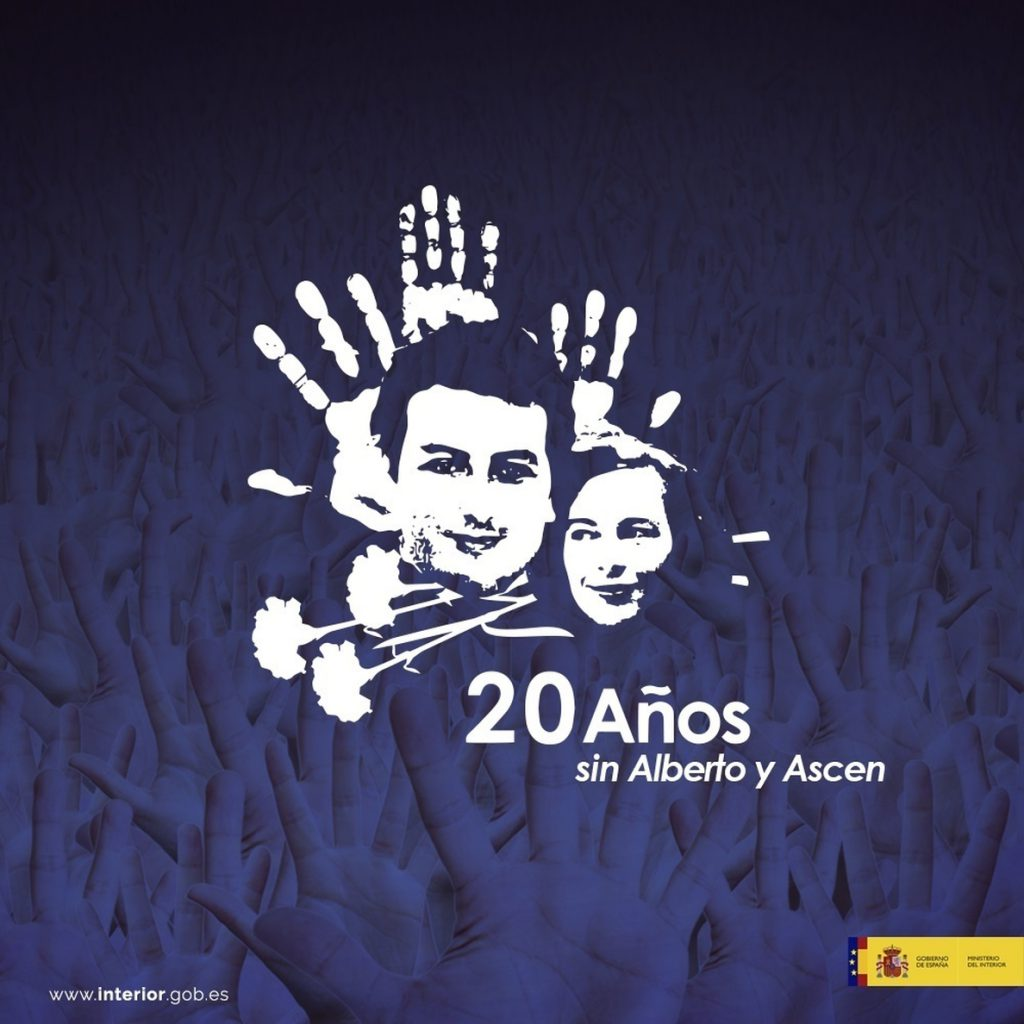 El Gobierno recuerda con una campaña a Jiménez-Becerril y García Ortiz a los 20 años de su asesinato a manos de ETA