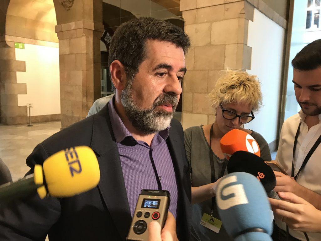 Jordi Sànchez lamenta la concentración frente al Parlament en la que se increpó a diputados
