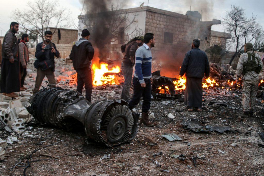 Siria investiga el derribo del avión ruso Su-25 y la muerte de su piloto cerca de Idlib