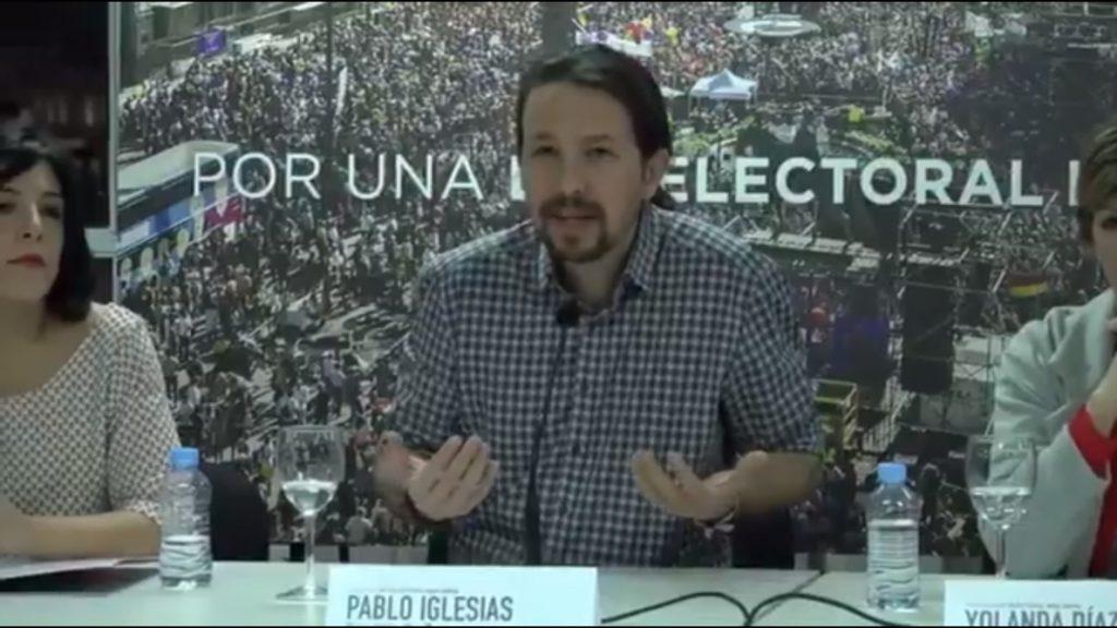 Iglesias confía en «poder razonar» su reforma del sistema electoral con el PSOE y «ojalá» con el PP