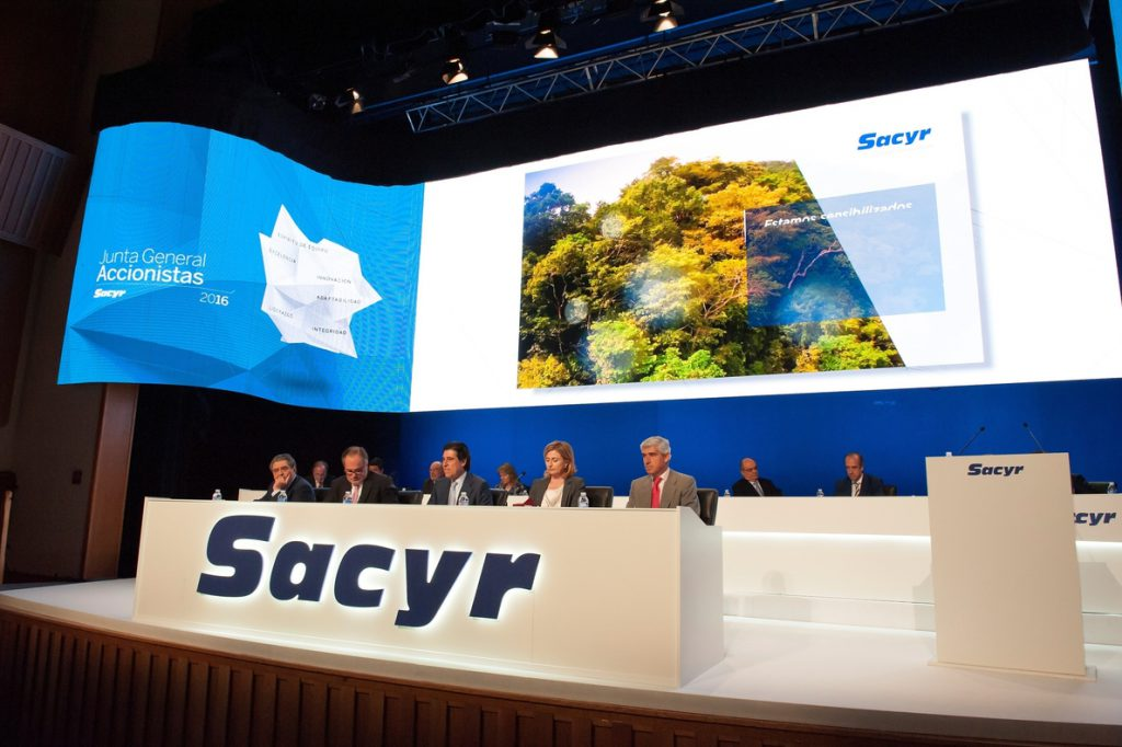 Sacyr recupera mañana el dividendo con un pago de 0,052 euros por acción