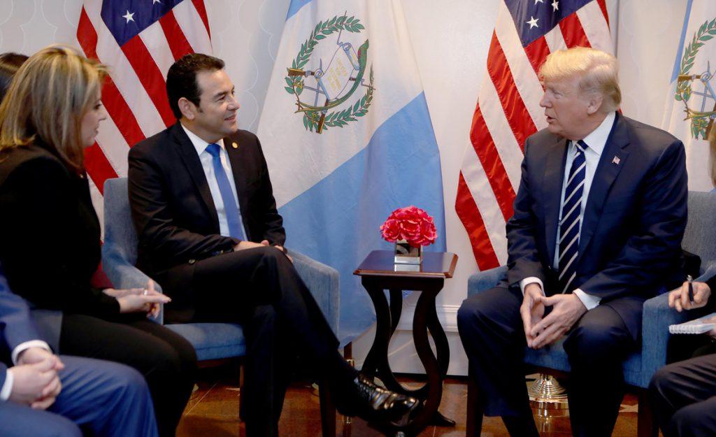 Trump y Jimmy Morales abogan por «restaurar la democracia» en Venezuela