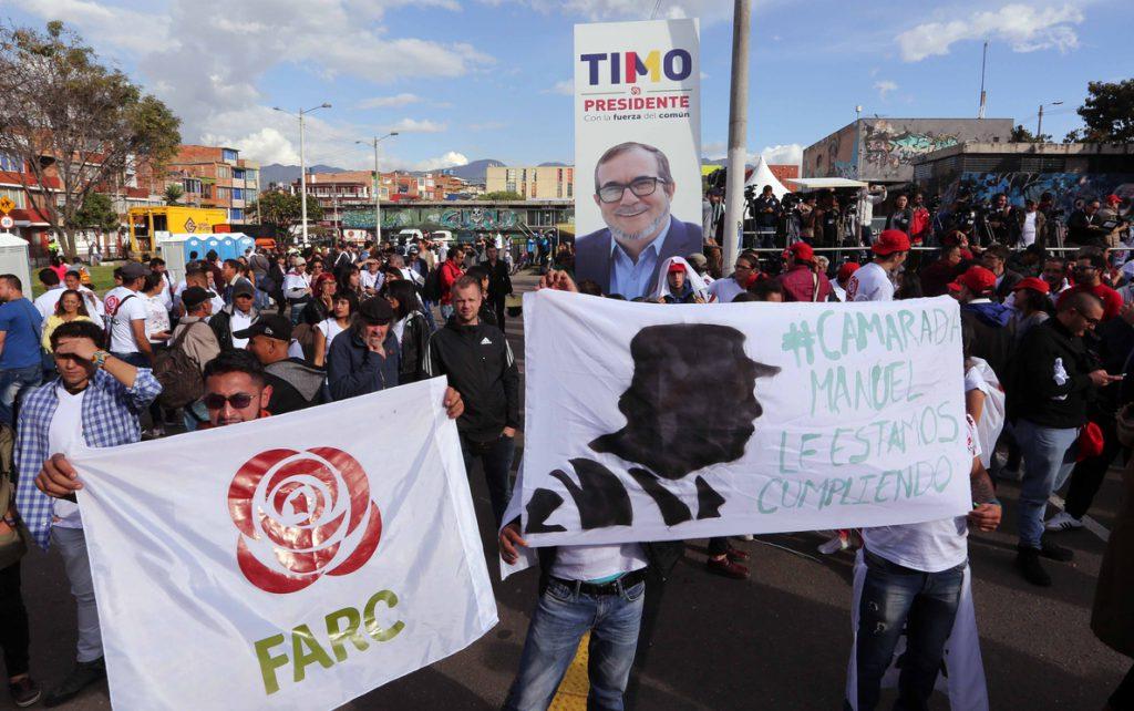 La FARC suspende su campaña electoral ante las protestas ciudadanas