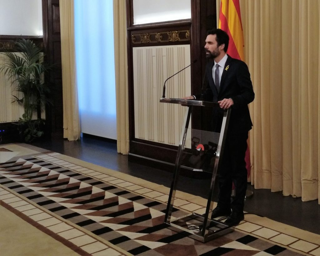 Torrent reitera que Puigdemont es «el único candidato» a presidir la Generalitat