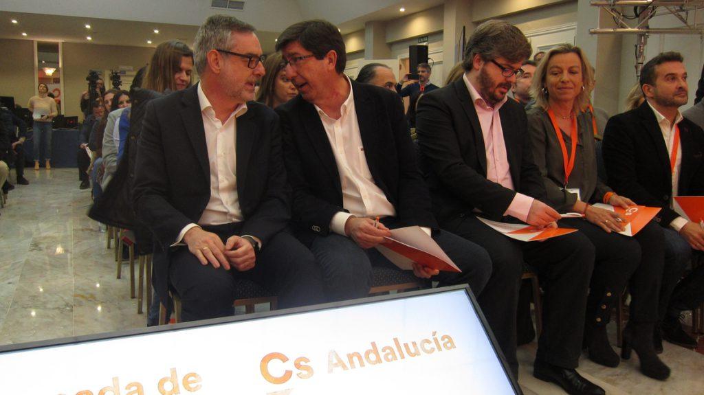 Villegas (Cs) asegura que ganarán las elecciones en Andalucía para «abrir la puerta» a una victoria en España