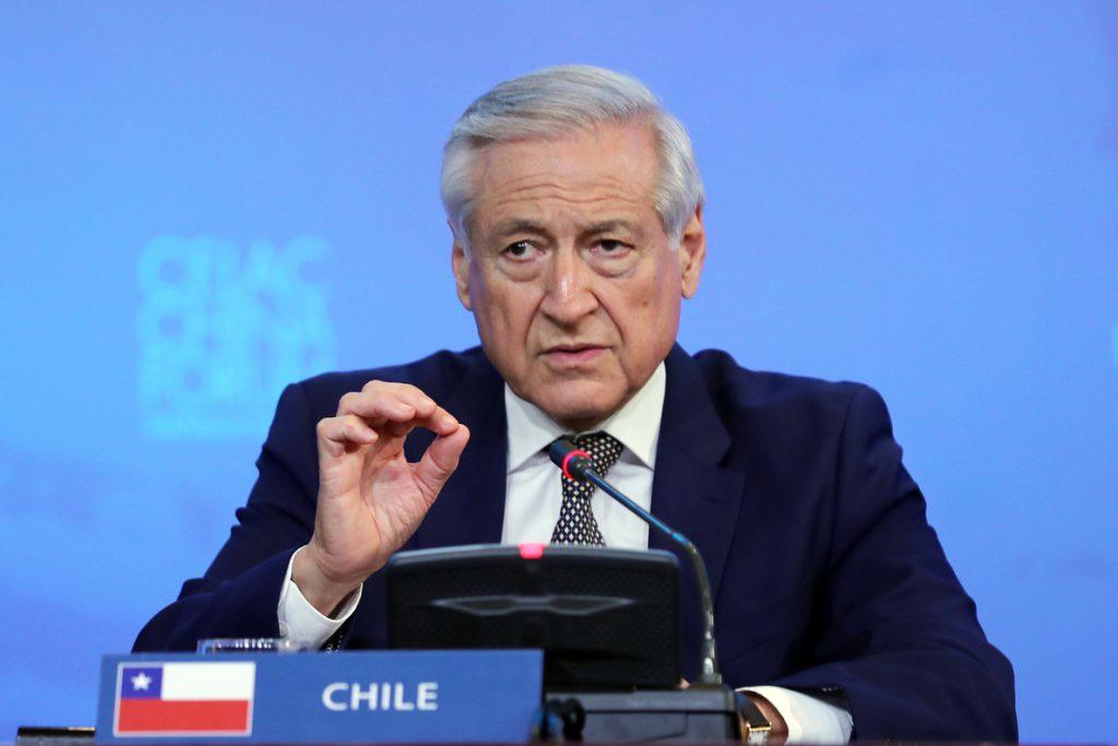 El canciller chileno le pide a Piñera mantener buena gestión en política exterior