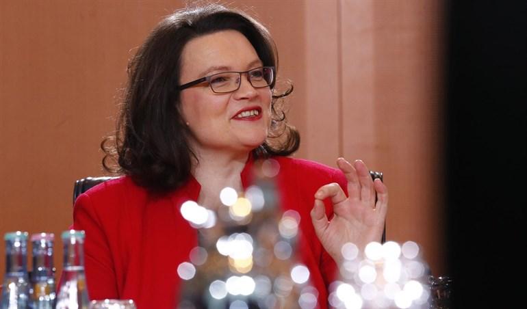 La exministra Andrea Nahles tomará este martes las riendas del SPD alemán
