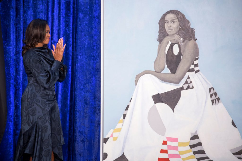 Obama presenta su colorido retrato oficial en un museo de Washington