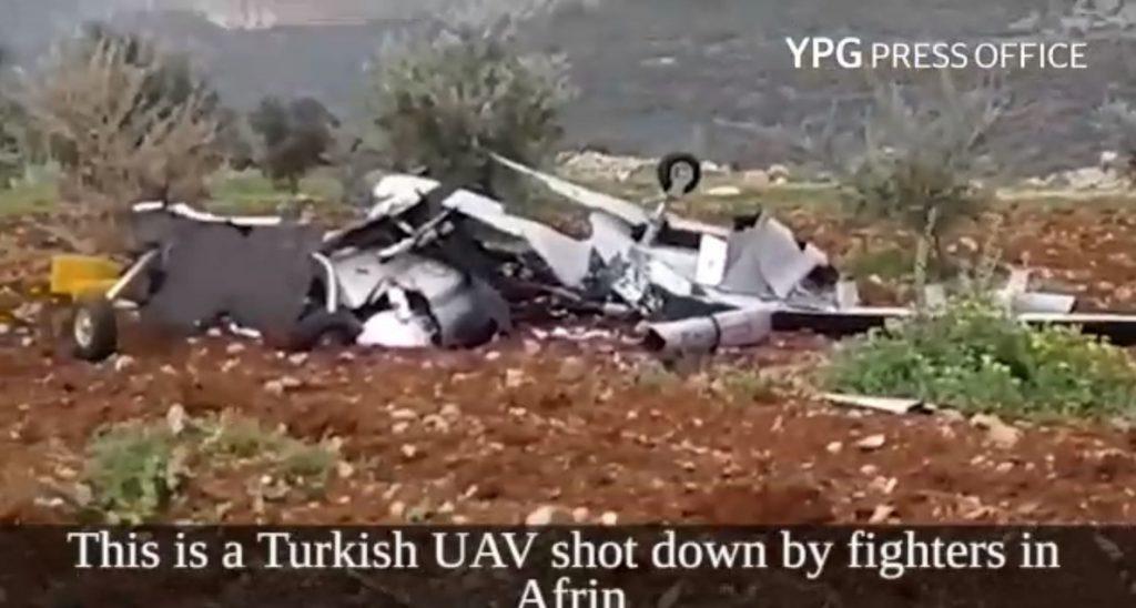 Las YPG anuncian el derribo de un dron turco en Afrin