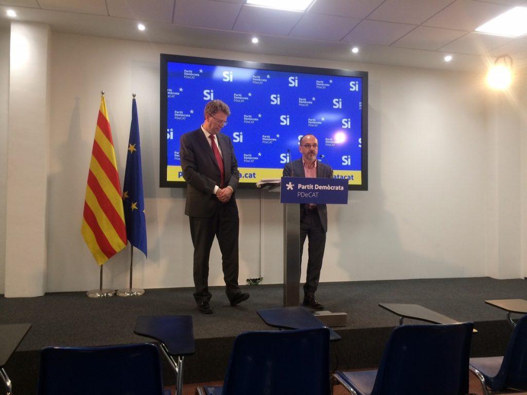 El PDeCAT lleva al próximo Pleno del Congreso la derogación del decreto que facilitó la marcha de empresas de Cataluña