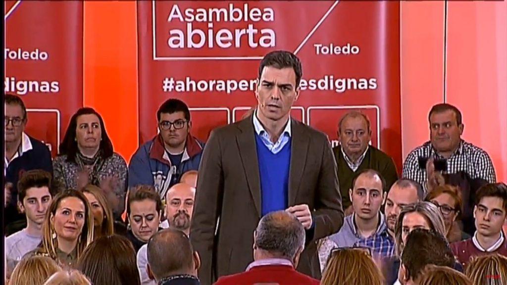 Sánchez pide a Cs incluir en el debate de reforma electoral el salario mínimo y renta básica a parados de larga duración