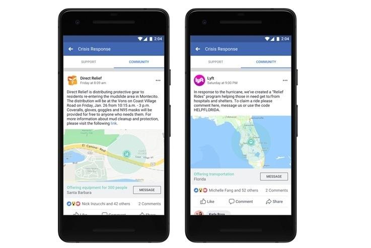 Facebook incluye en 'Ayuda a la Comunidad' a las organizaciones y empresas para que puedan ayudar en emergencias