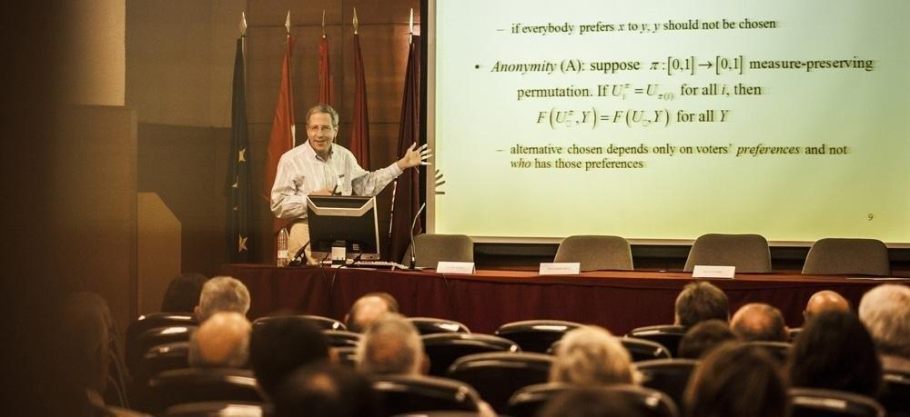 El Premio Nobel de Economía Eric Maskin, investido doctor honoris causa por la Universidad Carlos III de Madrid