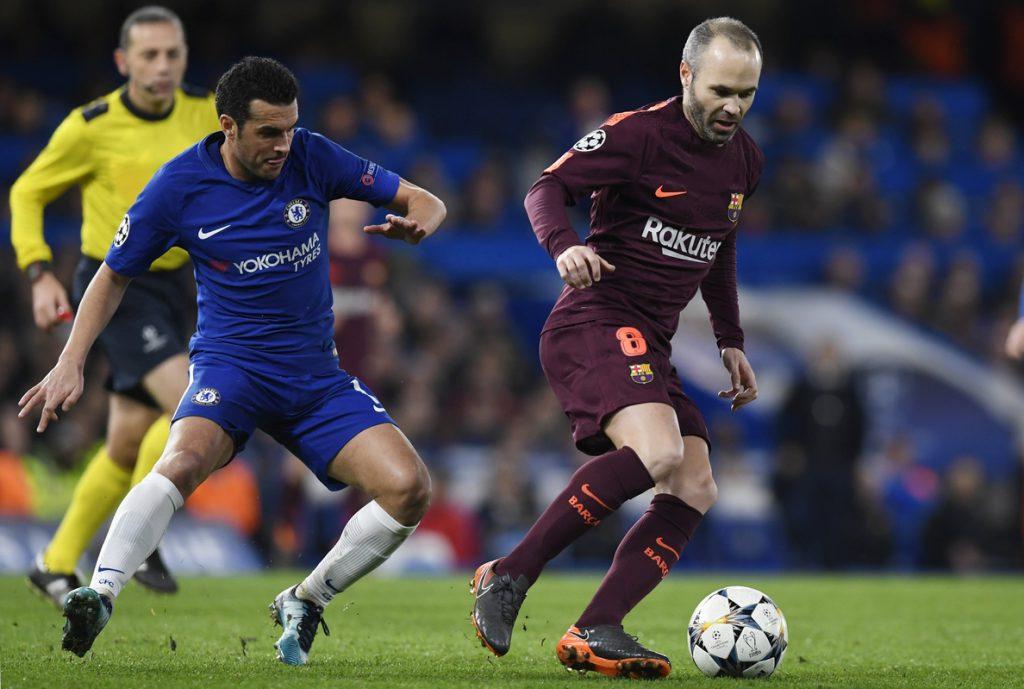 Chelsea y Barcelona empatan 0-0 al descanso