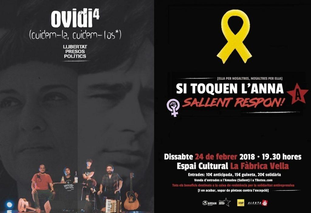 Sallent (Barcelona) acogerá el sábado un concierto solidario con Anna Gabriel (CUP)