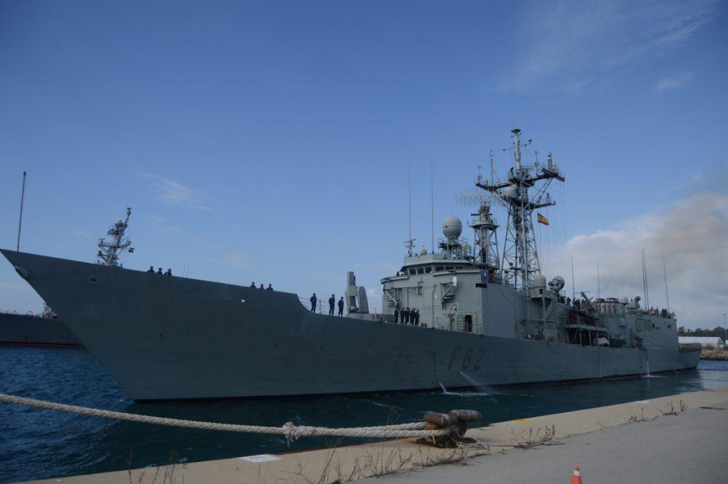 La fragata 'Victoria' parte de Rota para integrarse en la Agrupación Permanente de la OTAN SNMG-2