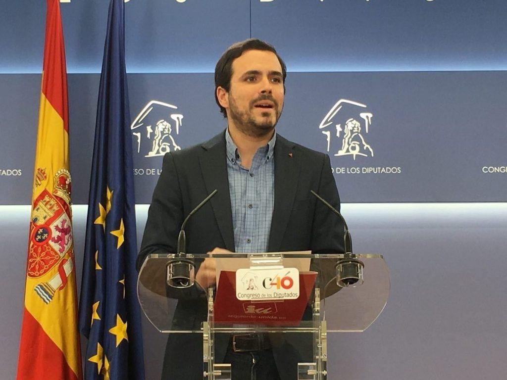 Garzón: «¿Cuándo ha defendido un Borbón los derechos sociales y civiles que aparecen recogidos en la Constitución»