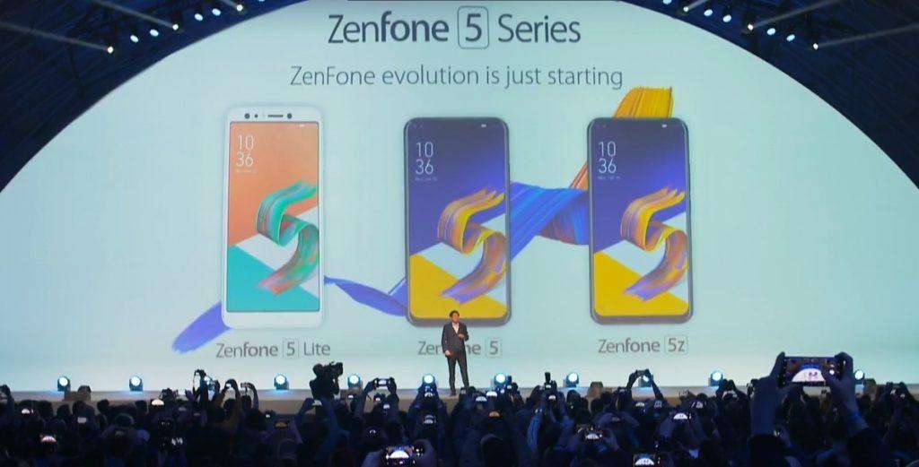 ASUS presenta los 'smartphones' ZenFone 5, 5z y 5 Lite, los dos primeros con funciones IA aplicadas a varios servicios