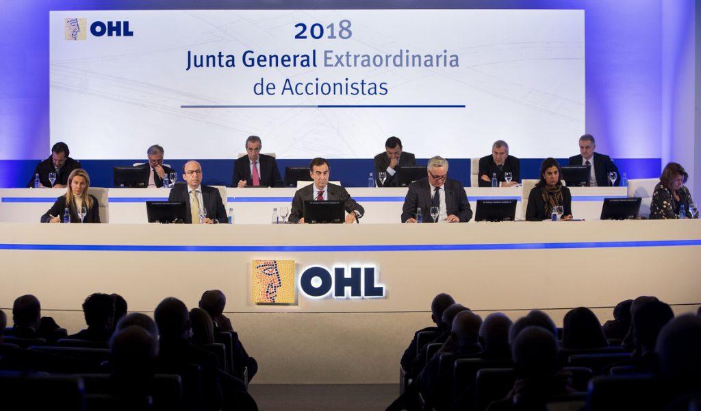 OHL se desploma un 17,2% en Bolsa tras presentar los resultados de 2017