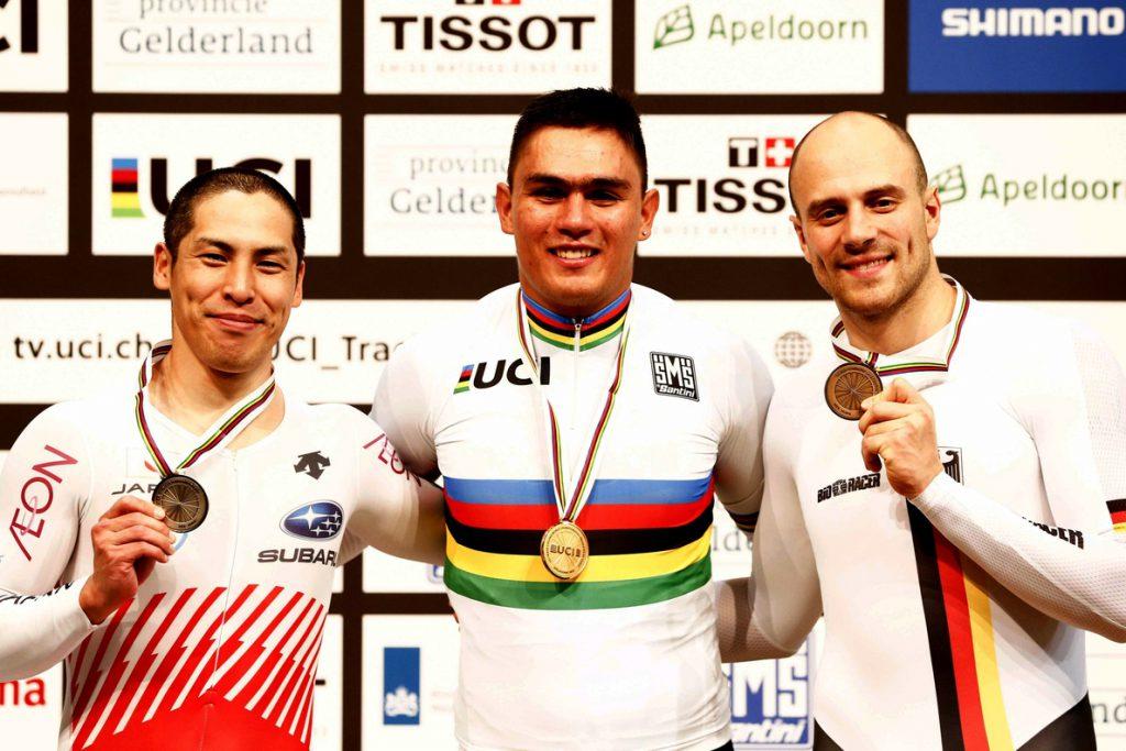 El colombiano Fabián Puerta, campeón del mundo de keirin en Apeldoorn