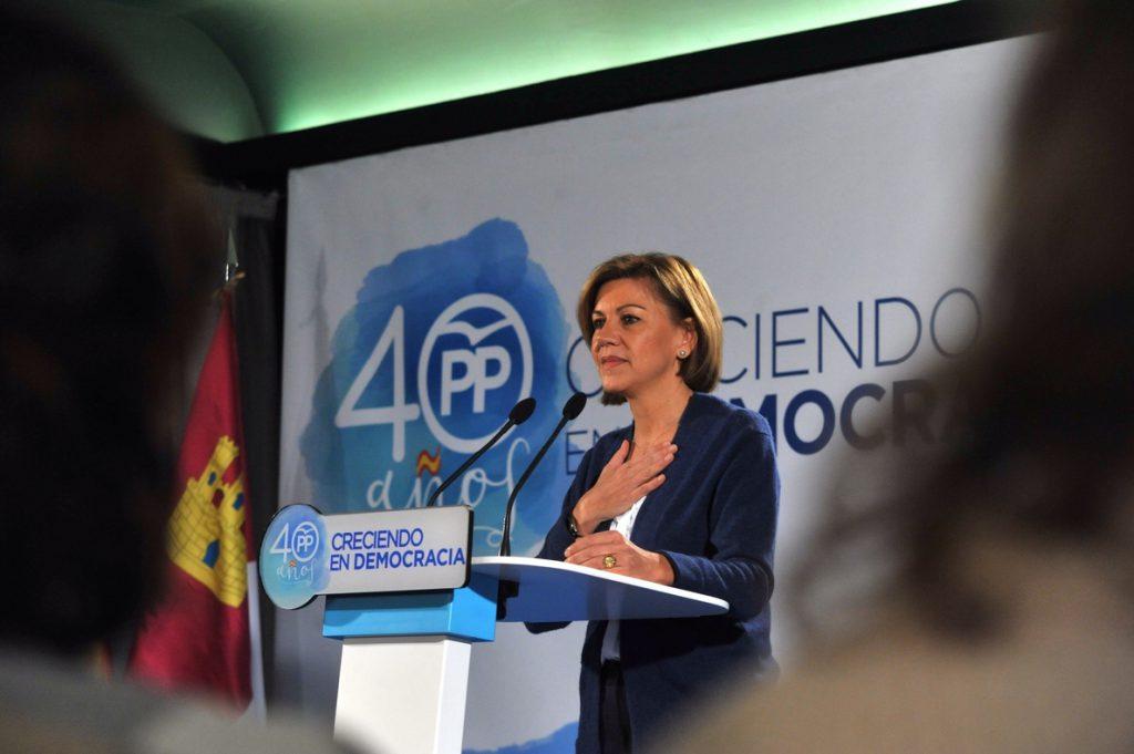Cospedal defiende que el artículo 155 ha parado «la sangría de empresas» en Cataluña