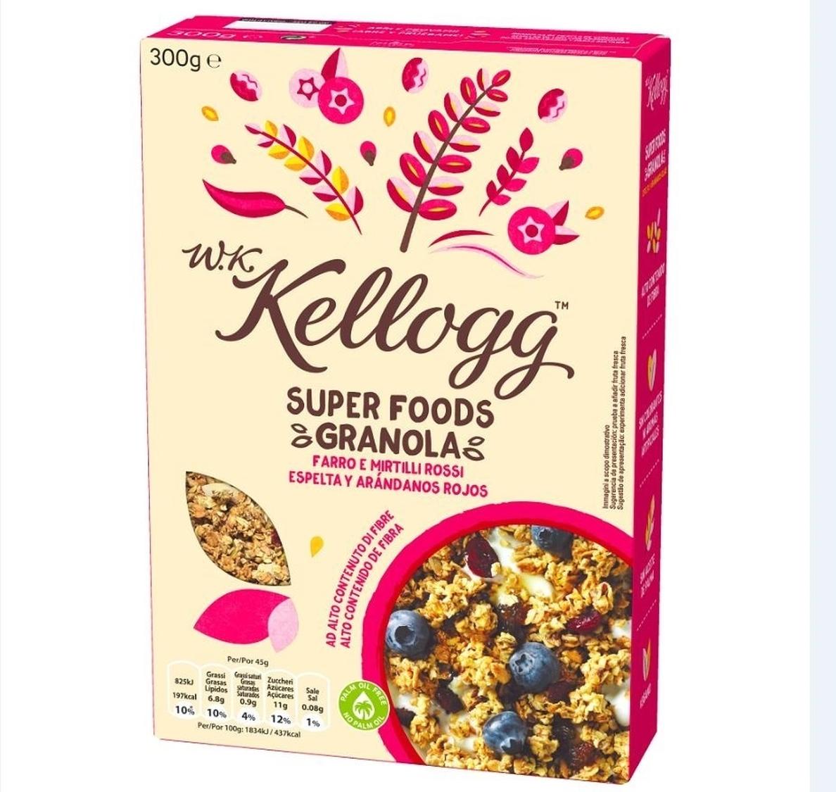 Kellogg entra en el mercado bio con W.K. Kellogg para impulsar sus ventas un 3%