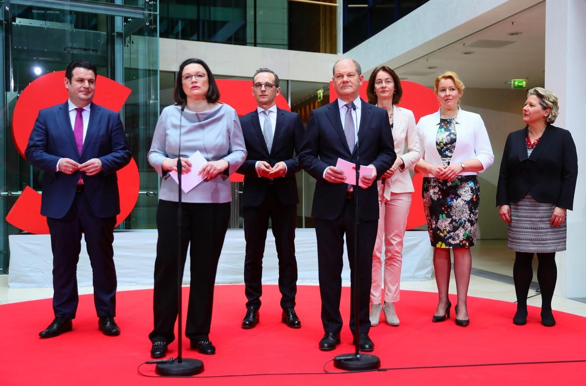 El SPD anuncia los seis ministros que integrarán el Gobierno presidido por Merkel