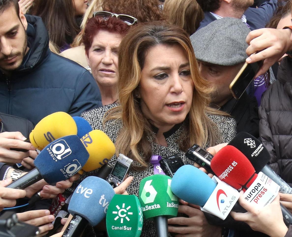 Susana Díaz «toma nota» de un día «histórico» y convocará a sindicatos y organizaciones para «acelerar medidas»