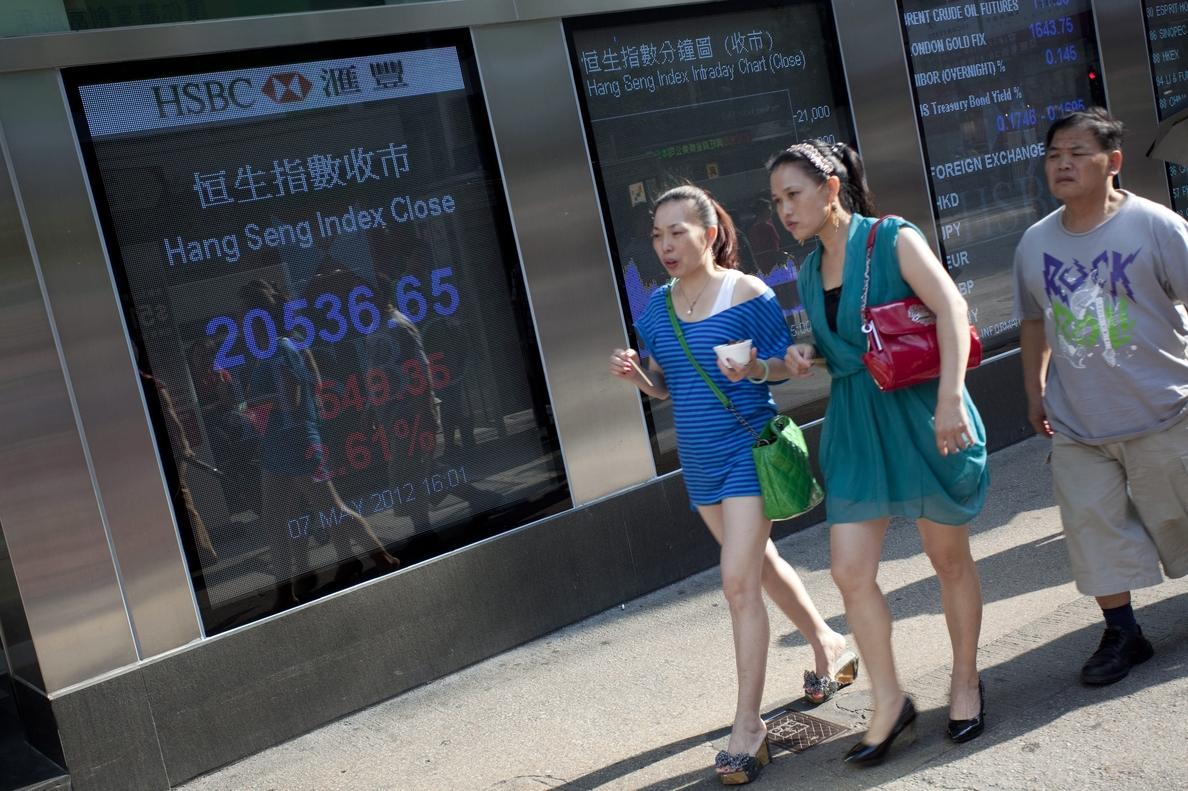 La Bolsa de Hong Kong sube un 1,53 por ciento a media sesión