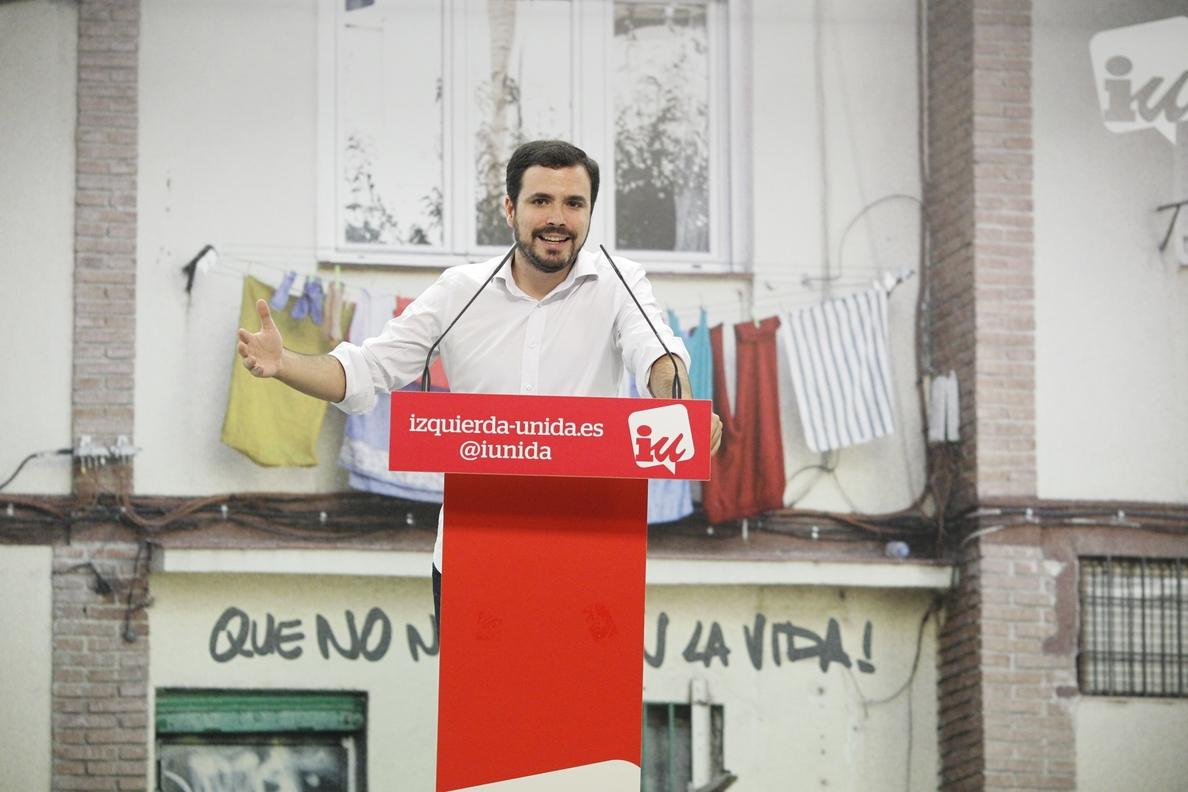 Garzón celebra la condena del TEDH a España por la quema de fotos del Rey y exige una reforma del Código Penal