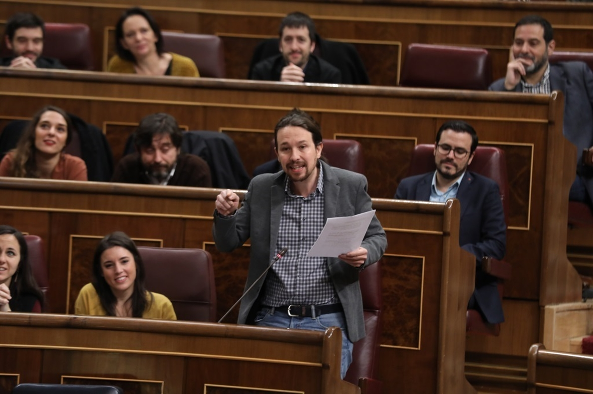 Pablo Iglesias acusa al PP de aprovecharse del asesinato de Gabriel para defender la prisión permanente revisable
