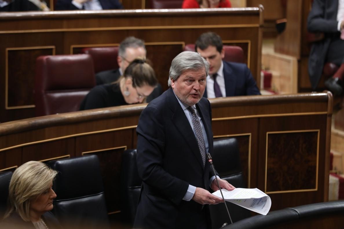 Méndez de Vigo pide al PSOE que «no juegue con las cifras» de la inversión educativa y no use el PIB como referencia