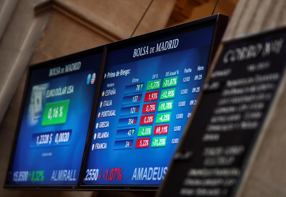 La prima de riesgo baja a 80 puntos pese a la estabilidad de los bonos