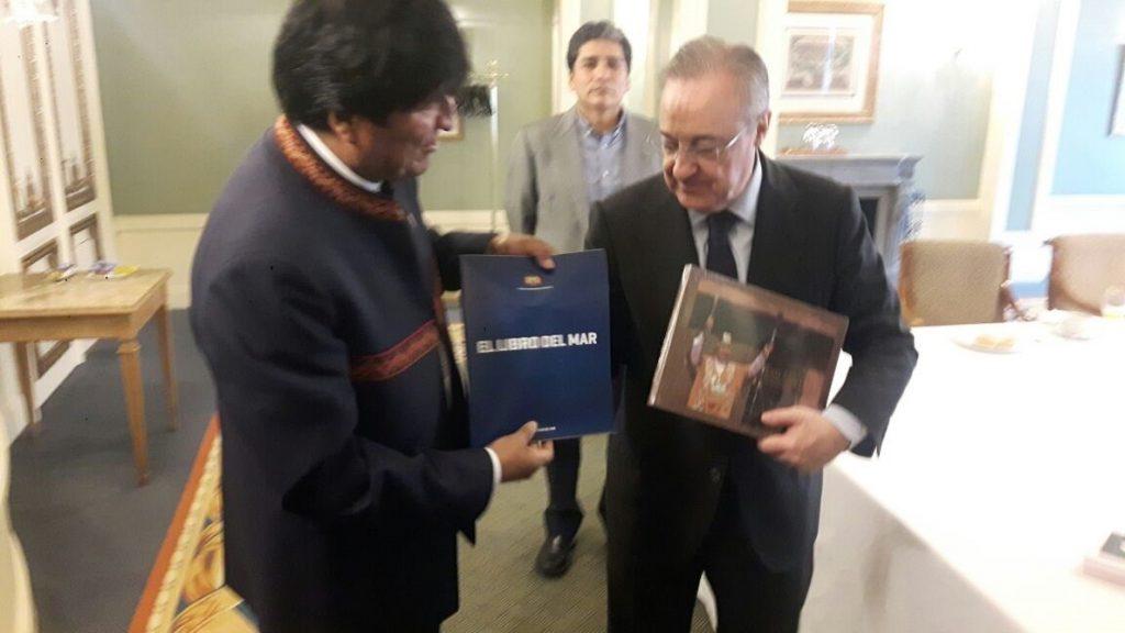 Morales invita a Florentino Pérez a visitar Bolivia