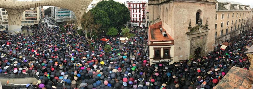 Masivas movilizaciones en Andalucía en defensa de las pensiones públicas