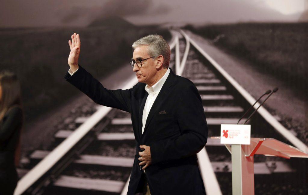 El eurodiputado del PSOE Ramón Jauregui se despide de la política en Bilbao