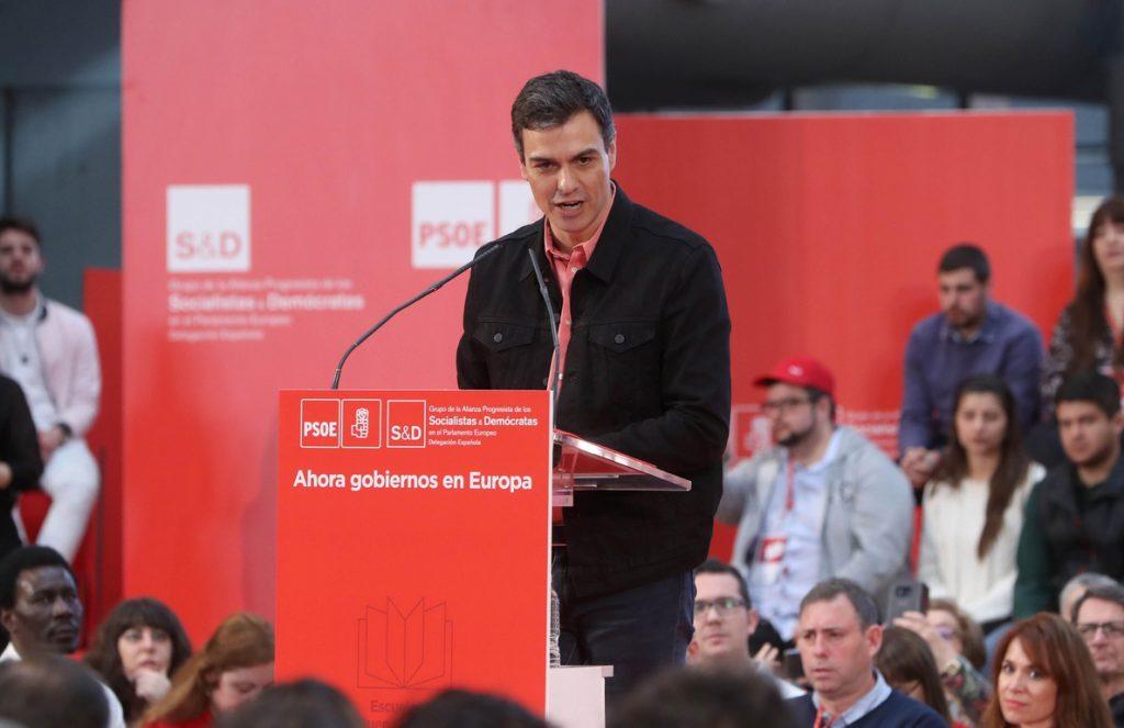 Sánchez: «El PSOE está tocando con los dedos ser la primera fuerza»