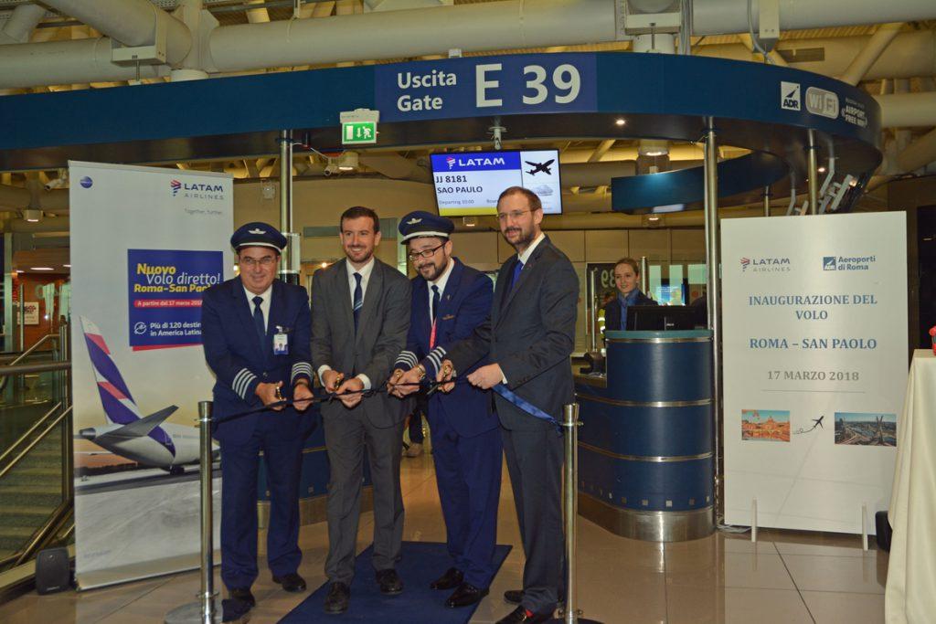 LATAM Airlines estrena su ruta entre Roma y São Paulo, con la que prevé llega a 35.000 pasajeros al año