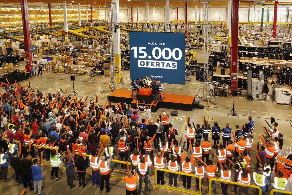 Los trabajadores de Amazon van a la huelga el miércoles y jueves en el centro logístico de San Fernando