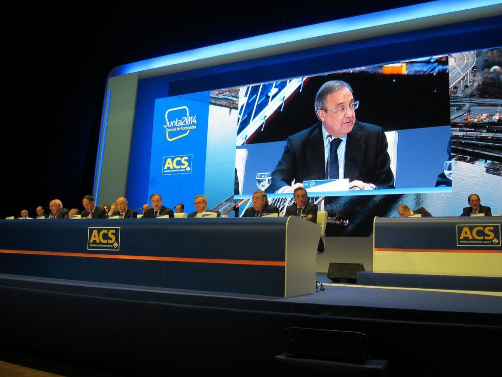 Florentino Pérez cobra 4,78 millones como presidente de ACS en 2017, un 4,3% más