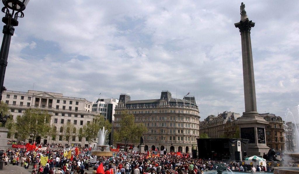 Marineros españoles se manifiestan en Londres contra Noruega por las pensiones