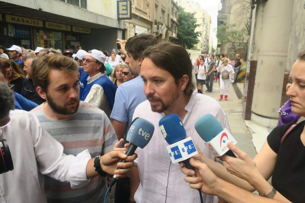 Iglesias afirma que la crisis de Cataluña no se solucionará con detenciones