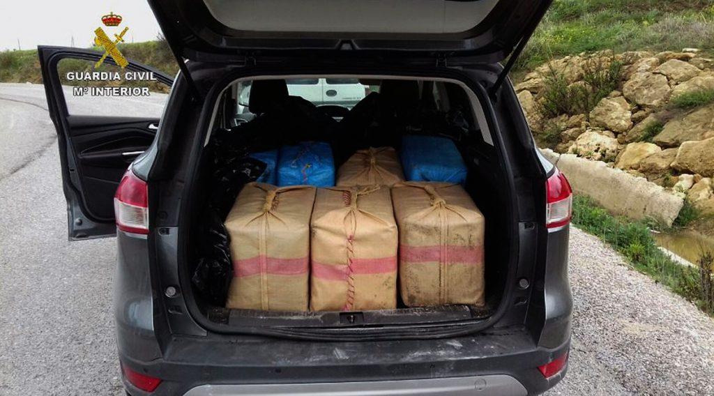Intervienen 450 kilos de hachís tras una persecución en San Roque