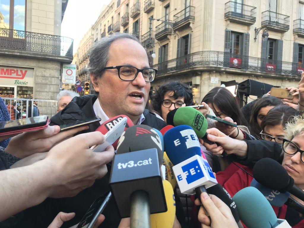 Torra (JxCat) sobre Puigdemont: «No es un asunto alemán, es la UE quien tiene la responsabilidad»