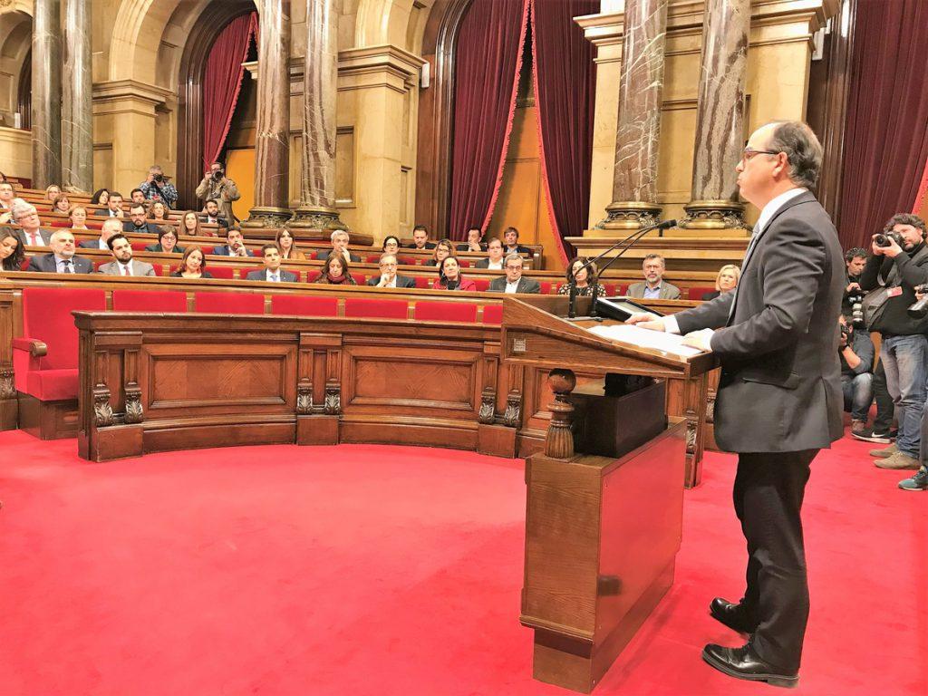 Turull agradece el apoyo del Parlament y reclama una «salida dialogada y democrática»